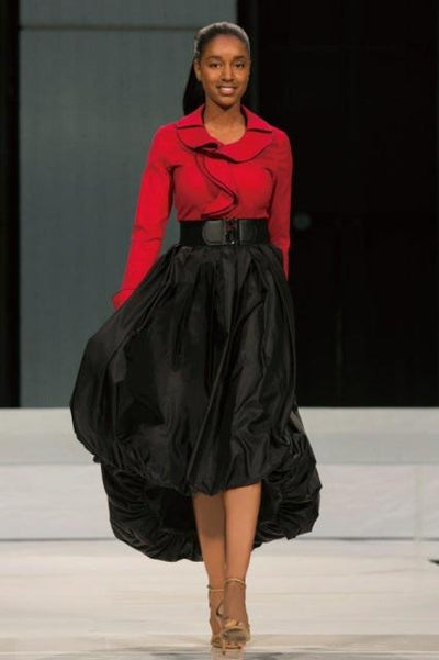 Taffeta High-Low Bubble Skirt