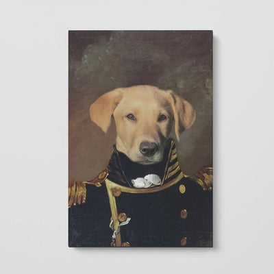 The Admiral - Custom Pet Poster - The Vintage Paws