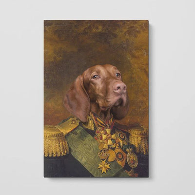 The Colonel - Custom Pet Poster - The Vintage Paws