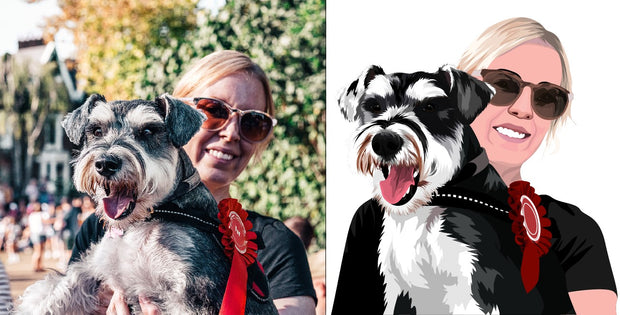Hand Drawn Pet Portraits - The Vintage Paws