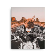 Biker Hound Canvas - The Vintage Paws