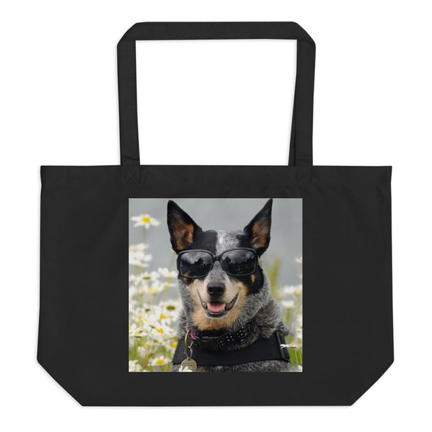 Large organic tote bag - The Vintage Paws