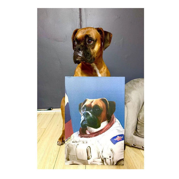 The Astronaut - Custom Pet Poster - The Vintage Paws
