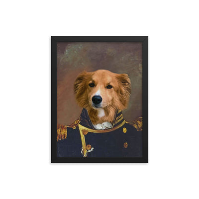 The Admiral Framed Photo Poster - The Vintage Paws
