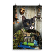Commando Cat or Dog Print - The Vintage Paws