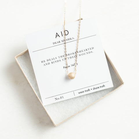 Dear Mushka Aid Necklace - meaningful jewerly