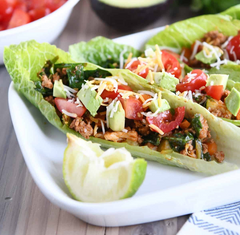 Veggie Turkey Lettuce Wraps