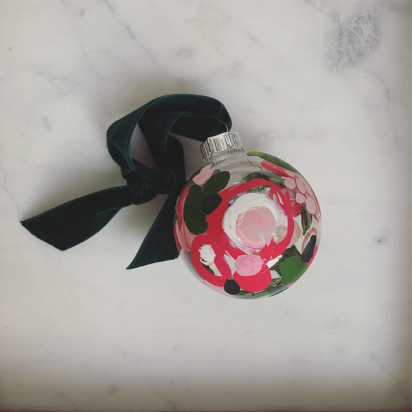 Hand-Painted Holiday Ornament (clear) // SOLD OUT
