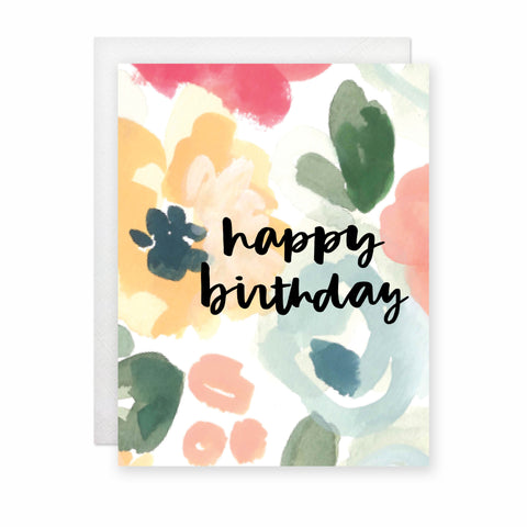 Happy Birthday (Floral) Card