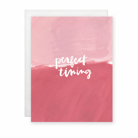 Perfect Timing (Pink) Card