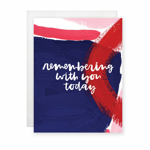 Remembering With You Today (Navy) Card