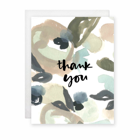 Thank You Card (Blue/Green Floral) (Box Set of 8)