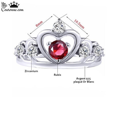 Bague Couronne Or Blanc Dimensions