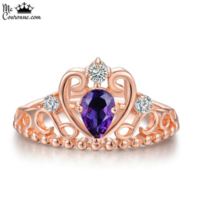 Bague Couronne Or Rose