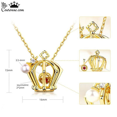 Collier Couronne Or Dimensions