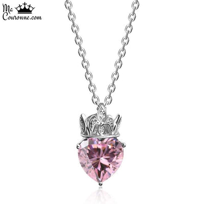 Collier Petite Couronne Rose