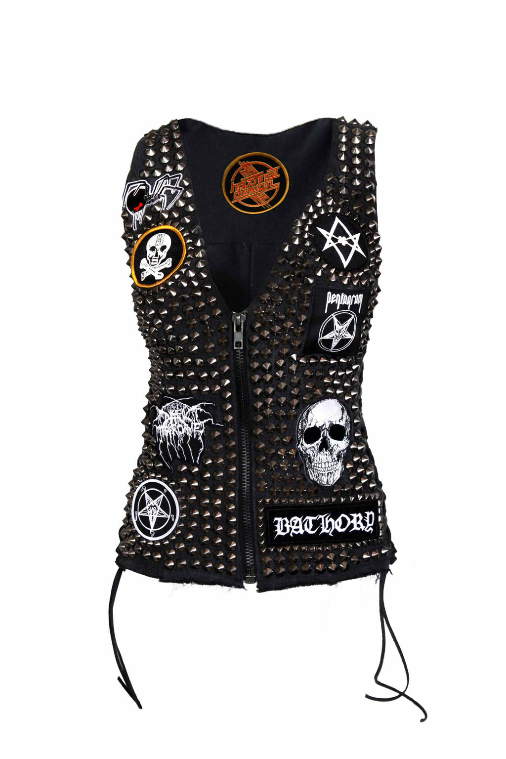KVLT Metal Babe Studded Denim Vest