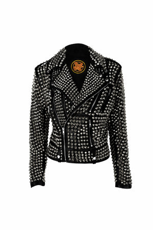 heavy metal studded jacket