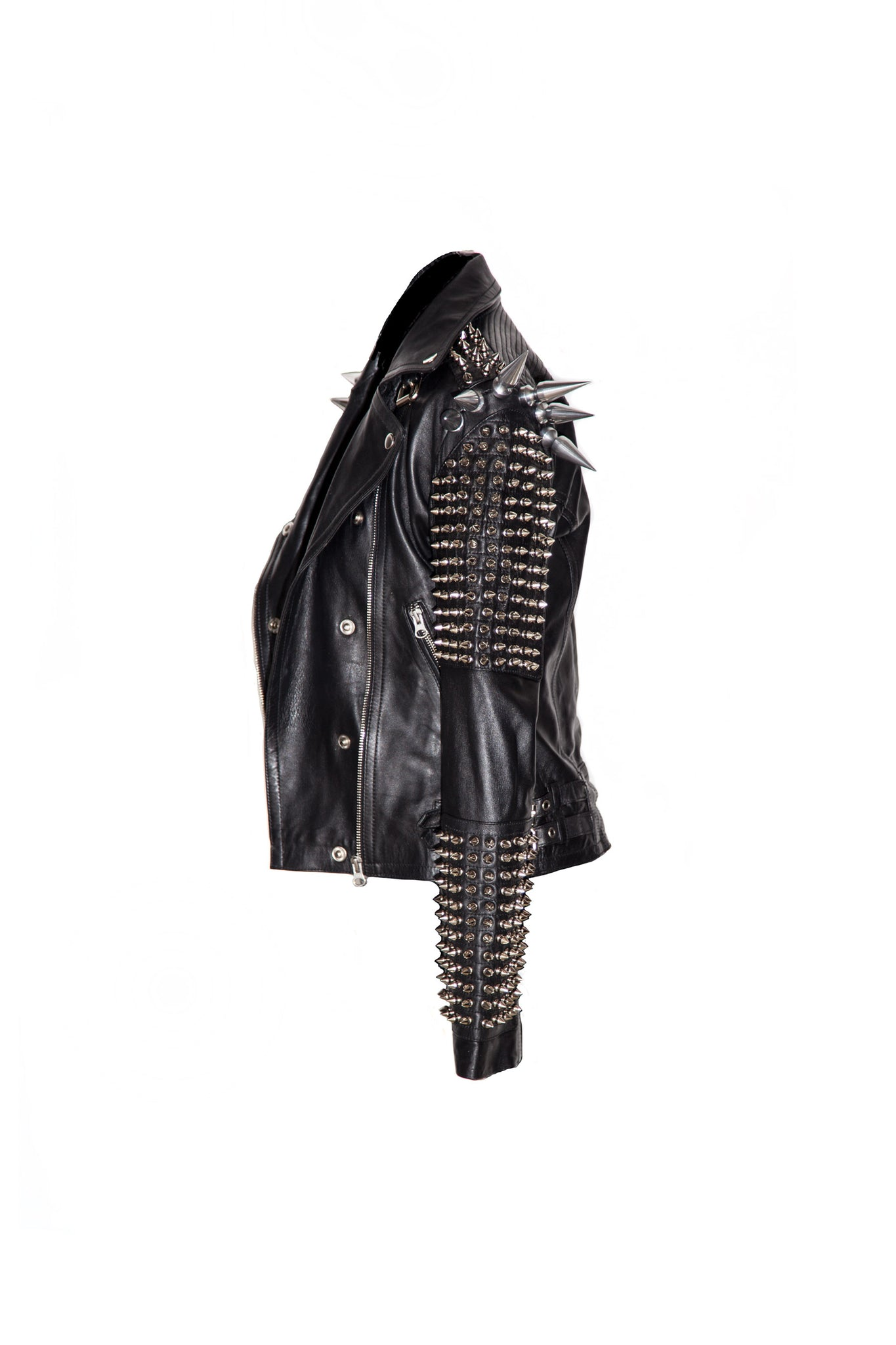Stargazer Giant Spike Leather Jacket