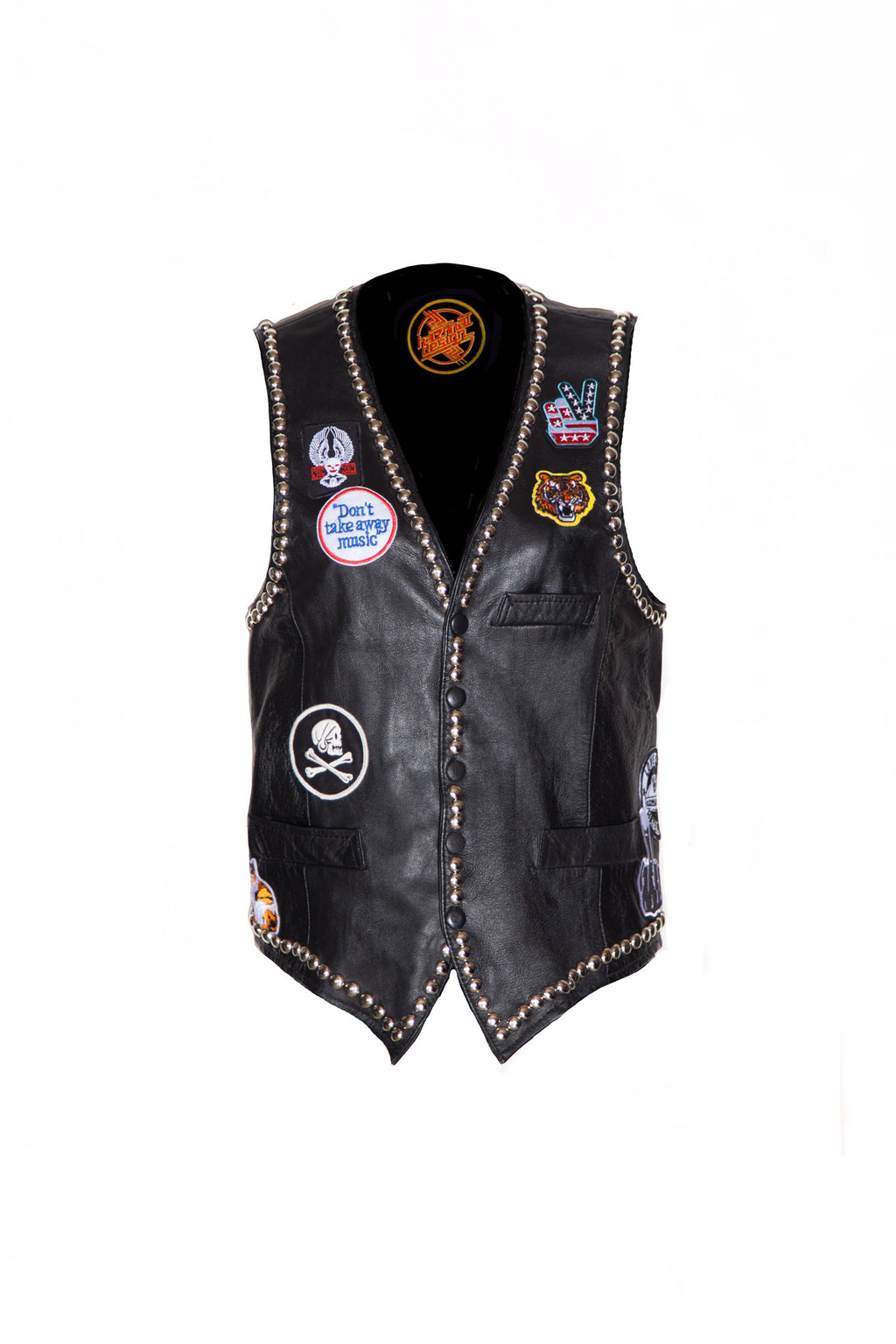 Wheels of Steel Leather Vest
