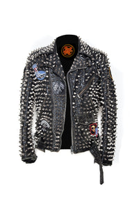 Overkill Studded Leather Jacket