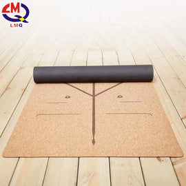 Eco friendly yoga mat anti slip sughero naturale stuoia 10 mm spessore