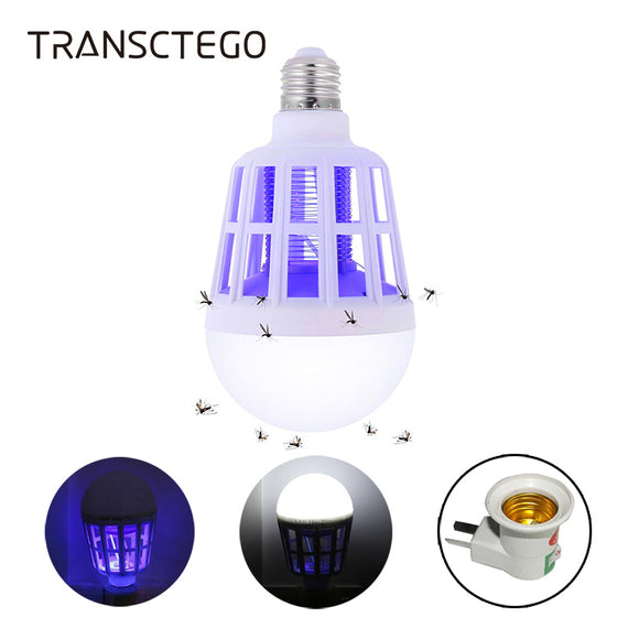 UV LED Bulb 15W Mosquito Killer Lamp 2 In 1 Mosquito Trap Insect Killer