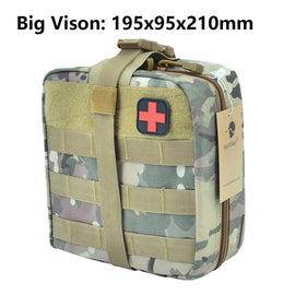 First Aid Bag Molle Hook and Loop Amphibious Tactical Medical kit EMT Emergency EDC Rip-Away Survival IFAK