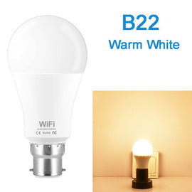 Dimmable 15W B22 E27 WiFi Smart Light Bulb LED Lamp App Operate Alexa Google Assistant Control Wake up Smart Lamp Night Light
