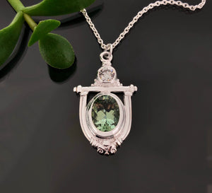 PET 767 SS P - Green Quartz & CZ