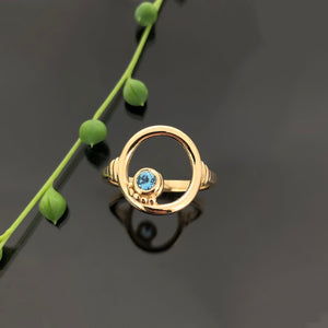 PET 1090 YG R - Blue Topaz