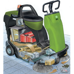 IPC 1050 Vacuum Sweeper Sold by Proline - Sketch interior render