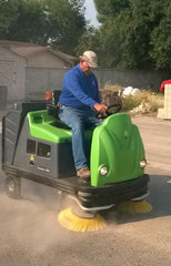 1404 Vacuum Industrial Sweeper by IPC Sold by Proline Watertown SD - in action