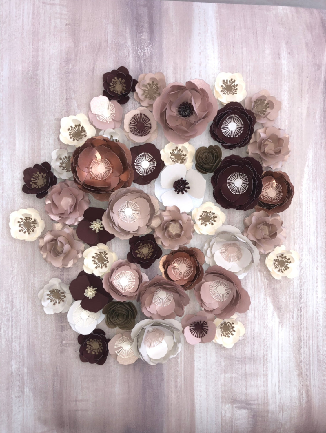 Mini flowers - set of 10