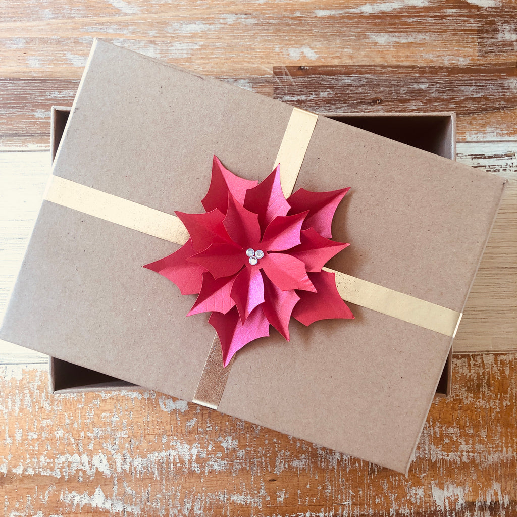 Gift box - Red poinsettia