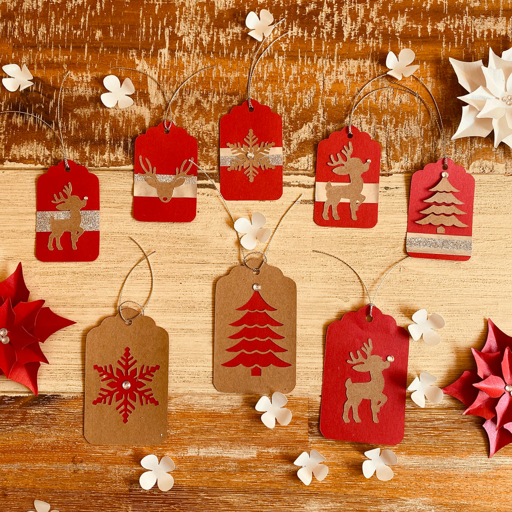 Christmas gift tags - set of 5