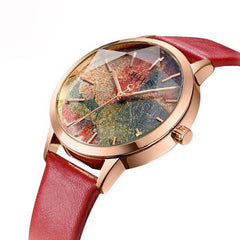 Julius Watercolor Faced Quartz Watch