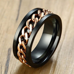 Steel And Rose Gold Ring