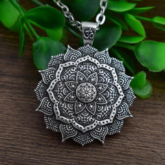 Antiqued Silver Lotus Pendant from OnyxKiss.com