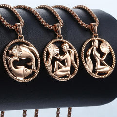 Rose Gold Zodiac Pendants from OnyxKiss.com