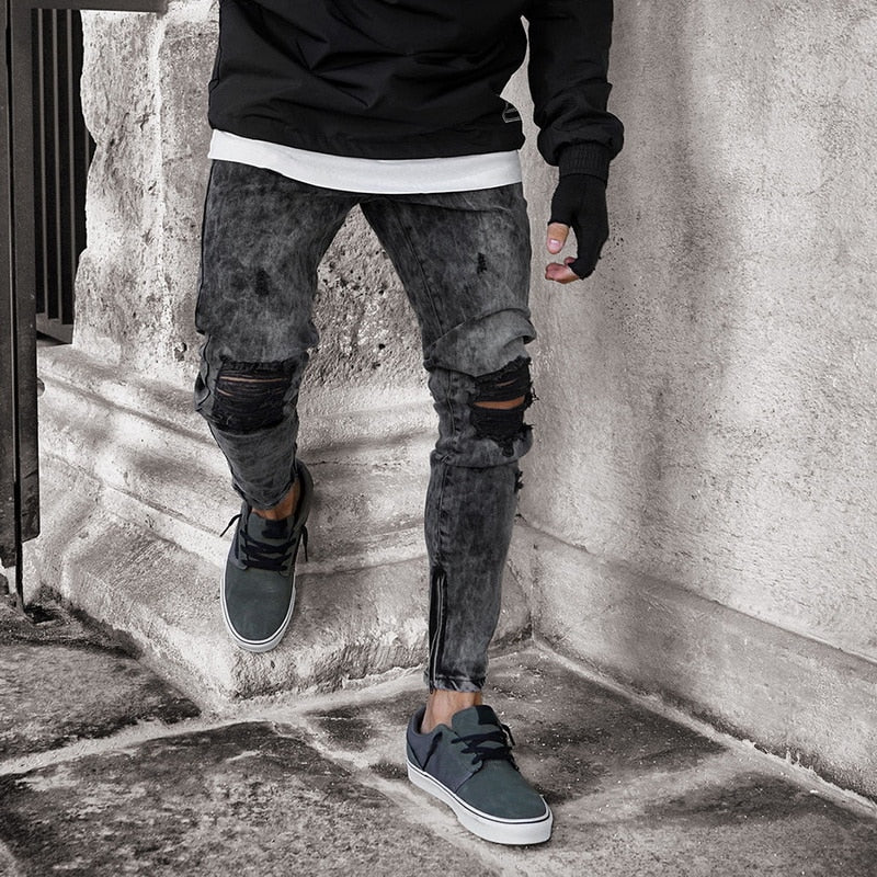 Ash Distressed Jeans