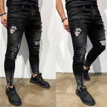 Load image into Gallery viewer, Frayed Black Jeans