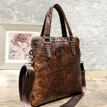 Load image into Gallery viewer, Crocodile Skin Crossbody Satchel