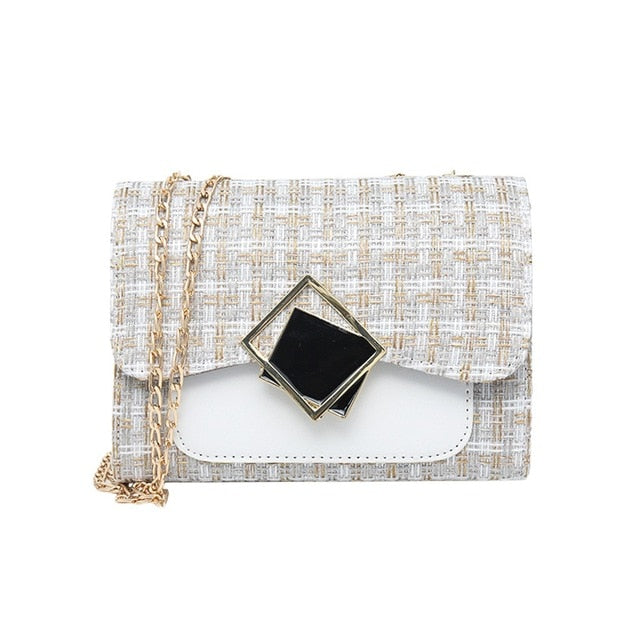 Woolen Patchwork Hand Bag