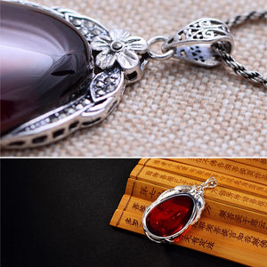 Tear Drop Garnet Pendant