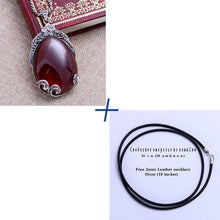 Load image into Gallery viewer, Tear Drop Garnet Pendant