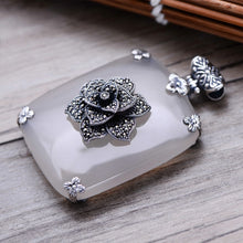 Load image into Gallery viewer, Blooming Chalcedony Pendant