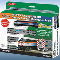 Kato Set Chicago Metra Lok + 3 Wagen