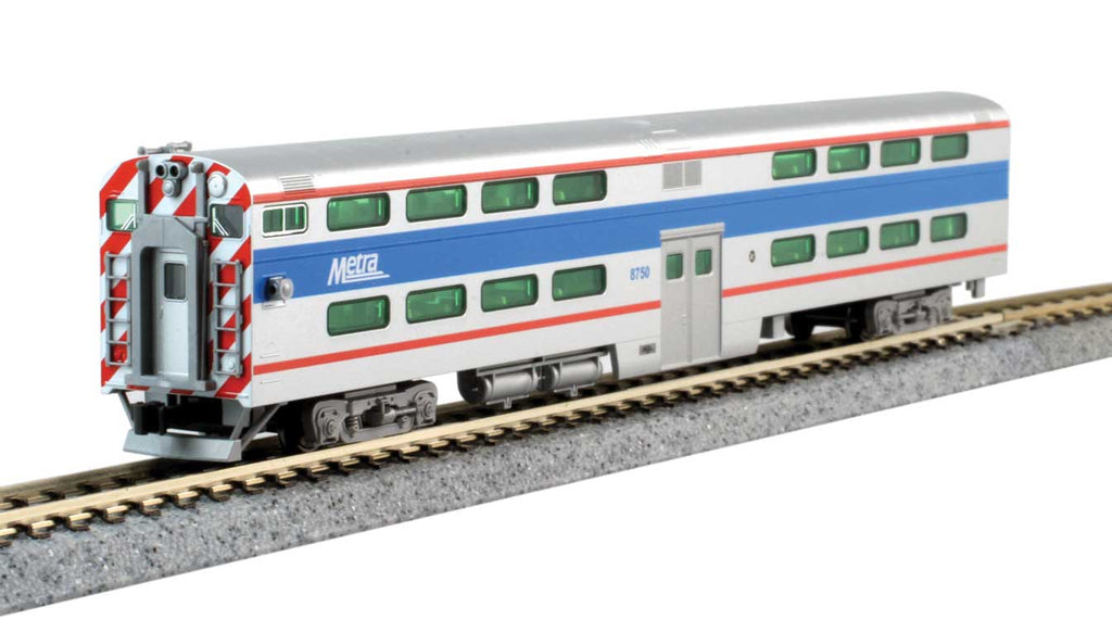 Kato Bi-Level Pullman Gallery Cab Coach METRA CHICAGO