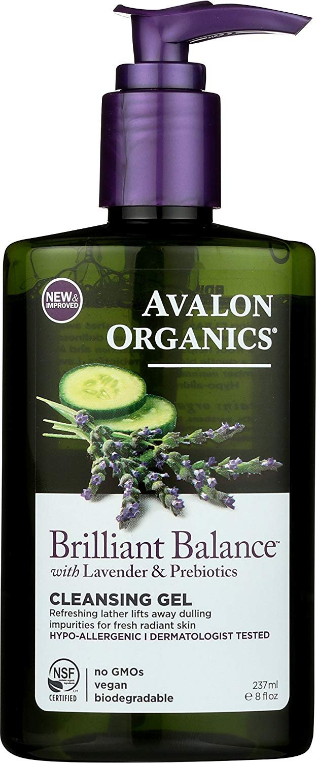 Avalon Organics Brilliant Balance Cleansing Gel, 8 Fluid Ounce